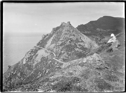 Dramatic scenery, near Lynmouth, Exmoor, Devon, 1910