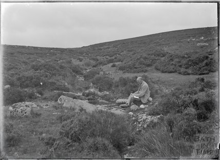Uncle Fred Love on the moors, near Chagford, Dartmoor, Devon c.1928