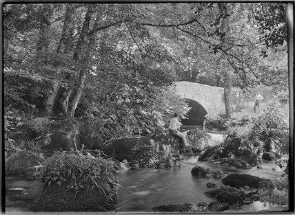 Leigh Bridge, Chagford, Dartmoor, Devon c.1928
