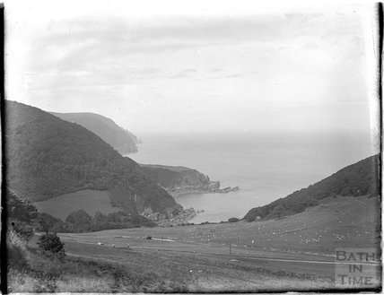 Unidentified coastal view, possibly near Clovelly, North Devon, c.1930s