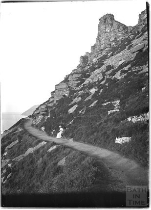 Coastal path near Lynmouth, Exmoor, Devon, c.1910
