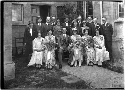 Wedding group for Ms Baker, Entry Hill, Bath c.1930s