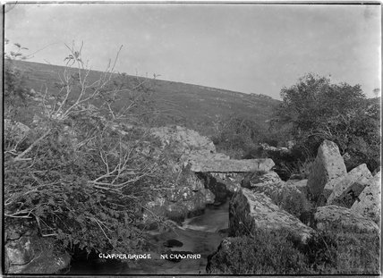 Clapper Bridge near Chagford, Dartmoor, Devon c.1928