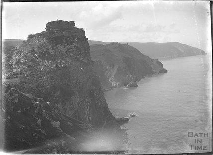 Cliffs near  Lynmouth, Exmoor, Devon, c.1920s