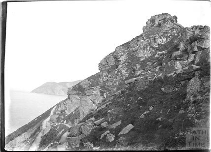 Cliffs near  Lynmouth, Exmoor, Devon, c.1920s
