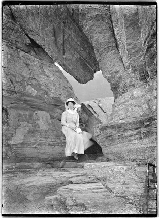 The photographer's wife Violet, near Lynmouth, Exmoor, Devon, c.1910