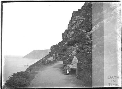 Coastal path near Lynmouth, Exmoor, Devon, c.1920s