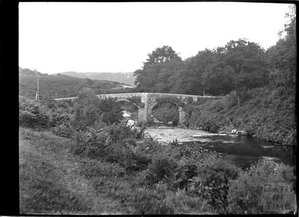 Bridge on the River Teign, Chagford, Dartmoor, Devon c.1928