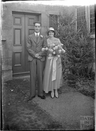 Wedding portrait for Ms Baker, Entry Hill, Bath c.1930s