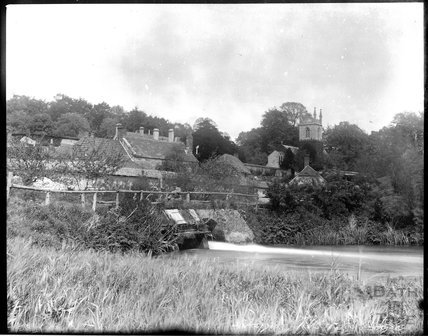 Fisherton de la Mare village in the Wyle Valley, Wiltshire, c.1900s
