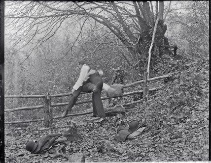 Clowning around on Bathampton Rocks c.1900s