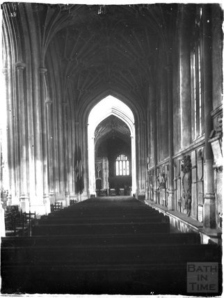 Inside Bath Abbey c.1925
