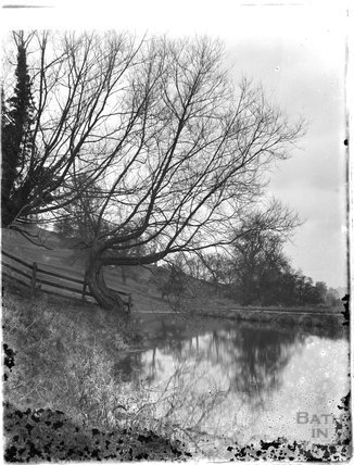 Unidentified river or canalside scene c.1925