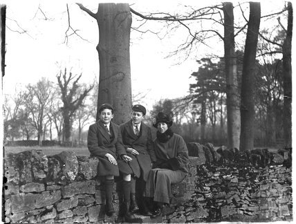 The photographer's wife and twin boys, c.1925