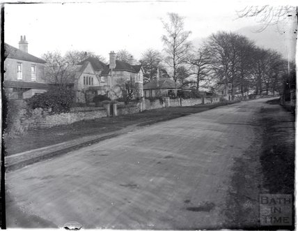Claverton Down Road, near the top of Bathwick Hil c.1925