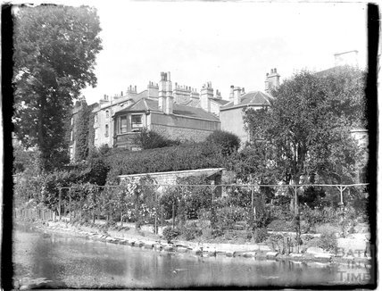Beside the Kennet and Avon Canal, Sydney Buildings, Bath c.1925
