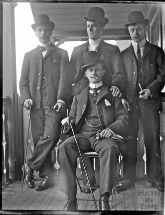 A group of bowler hatted gentlemen c.1900s