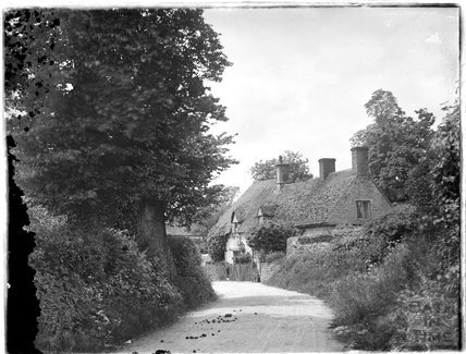 Unidentified village street c.1925