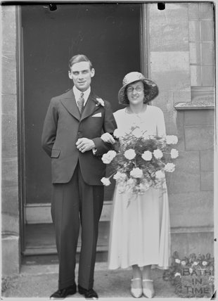 A wedding portrait of an unknown couple, c.1920s