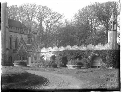 Fonthill Abbey remains, pictured from the south east. c.1925