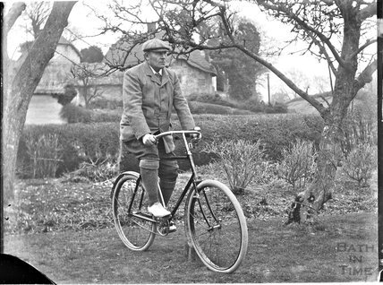 Portrait of a gentleman on a bicycle c.1900s
