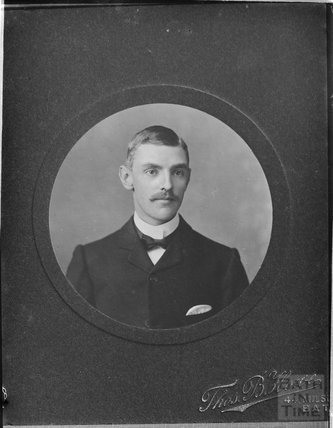 Copy of a photographic portrait of a gentleman c.1900s