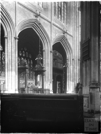 Bath Abbey, Bishop Montagu's tomb c.1925