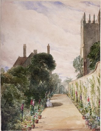 Garden of the Grange, Bitton, c.1870s?