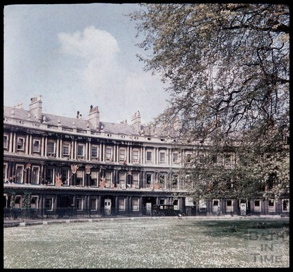 Dufaycolor view of the Circus, Bath, May 1937