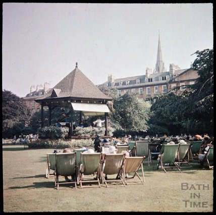Dufaycolor view of Parade Gardens, May 1937