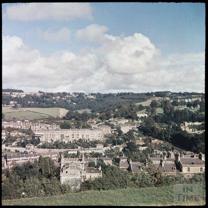 Dufaycolor view of Widcombe from Beechen Cliff, May 1937