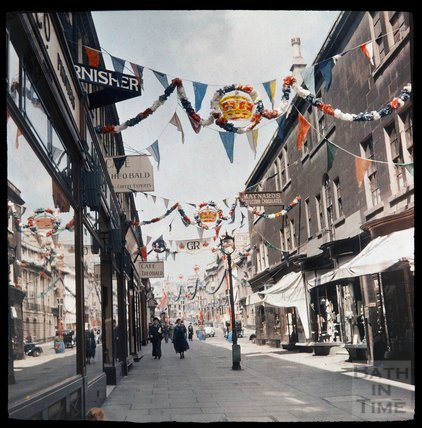Dufaycolor view of Old Bond Street, May 1937