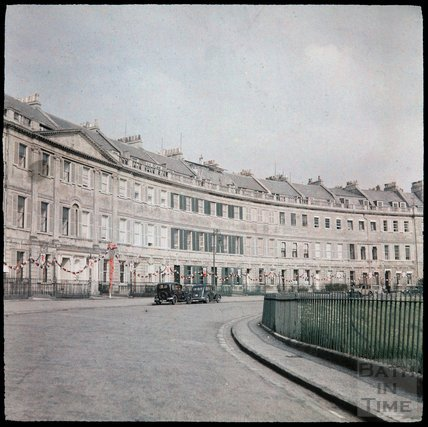 Dufaycolor view of Lansdown Crescent, May 1937
