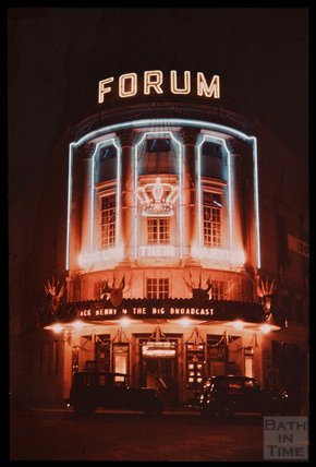 Dufaycolor view of The Forum, Bath, May 1937