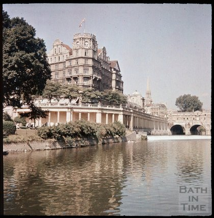 Dufaycolor view of The Empire Hotel and Parade Gardens, May 1937