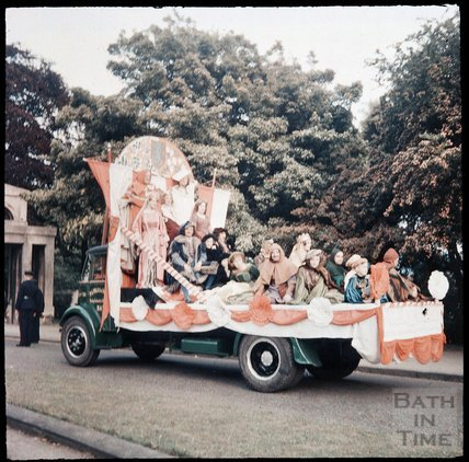 Dufaycolor view of  the Rotary Club Carnival, May 1937