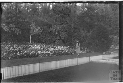 The photographer's wife Violet in a park c.1920s