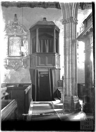 Priest's Chamber, All Saints Church, Selworthy, Somerset c.1910s