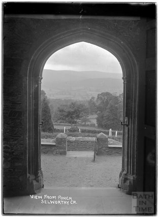 View from porch, All Saints Church, Selworthy, Somerset c.1910s
