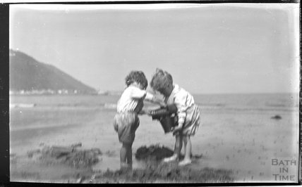 A family day at the beach at Minehead 1914