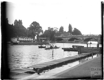 A pleasure boat on the Thames at Henley-on-Thames,c.1920s