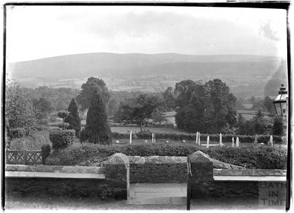 View from All Saints Church, Selworthy, Somerset c.1910s