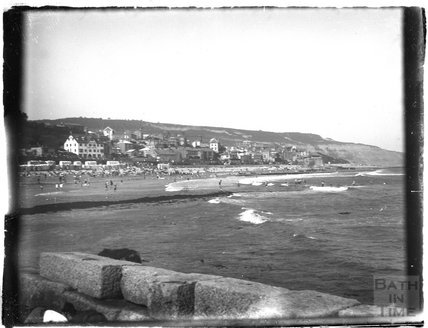 A seaside view at Lyme Regis, Dorset, c.1920s