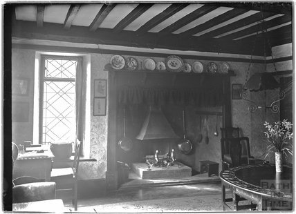 Inside Glebe Cottage, Luccombe, near Minehead, Somerset c.1910s