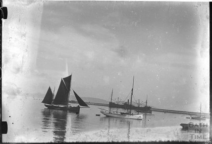 A collection of ships thought to be near Dartmouth c.1930s