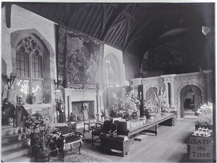Inside Coker Court, East Coker near Yeovil, Somerset c.1920s