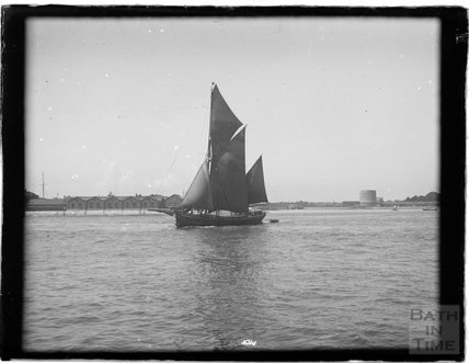 A sailing ship at Portsmouth Harbour, 1933