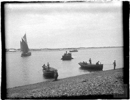 View of various sailing vessels at Southsea, 1933