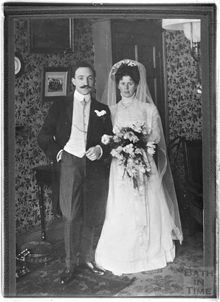 Unidentified wedding portrait c.1880s - 1900s