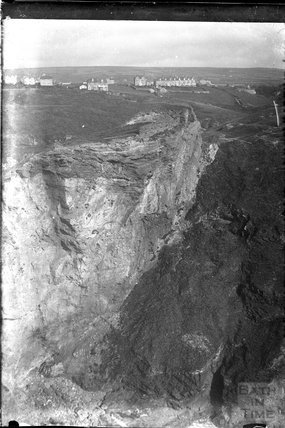 View of an unidentified cliff top row of houses c.1930s